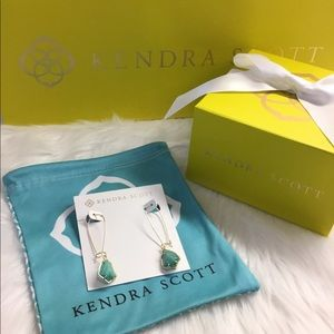 NWOT Kendra Scott Carinne Earrings in Amazonite